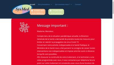 Site internet de Sysmed Assistance