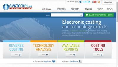 Site internet de System Plus Consulting SARL