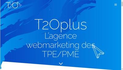 Site internet de T2O Plus