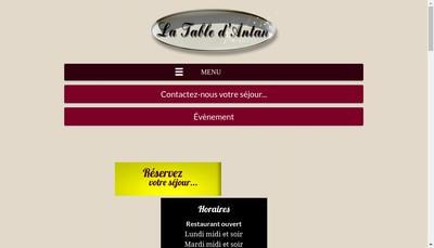Site internet de La Table d'Antan