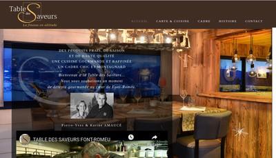 Site internet de La Table des Saveurs