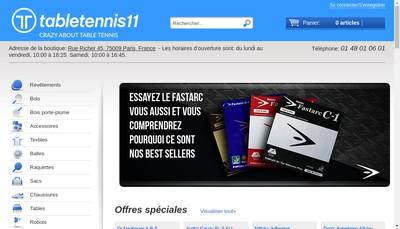 Site internet de Tabletennis11