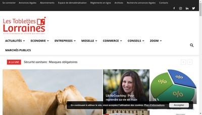 Site internet de Les Tablettes Lorraines