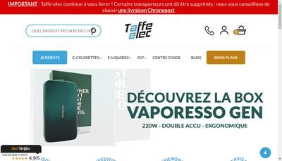 Site internet de Taffe-Elec