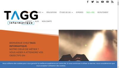 Site internet de Tagg Informatique
