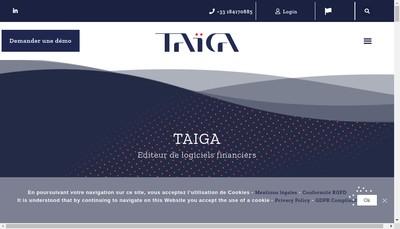 Site internet de Taiga Collateral Management