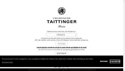 Site internet de Taittinger Compagnie Commerciale et Viticole Champenoise