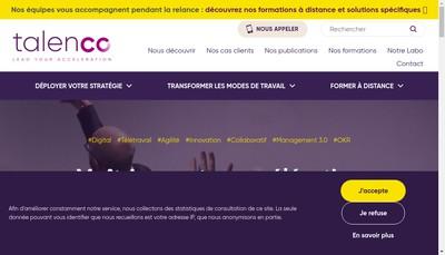 Site internet de Talenco