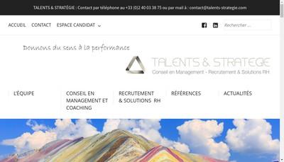 Site internet de Talents et Strategie