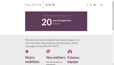 Site internet de Talents Unis