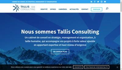 Site internet de Tallis Consulting