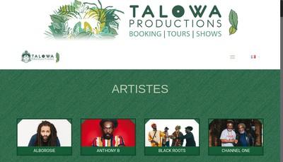 Site internet de Talowa Productions