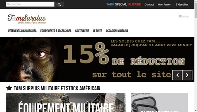 Site internet de Tam Surplus Militaire