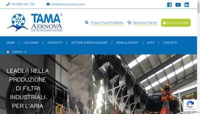 Site internet de Tama Aernova France Air Filtration Systems