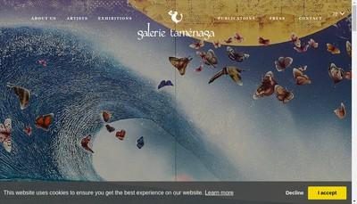 Site internet de Galerie Tamenaga France SA