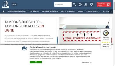 Site internet de Tampons-Bureau Fr