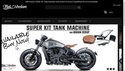 Site internet de Tank Machine