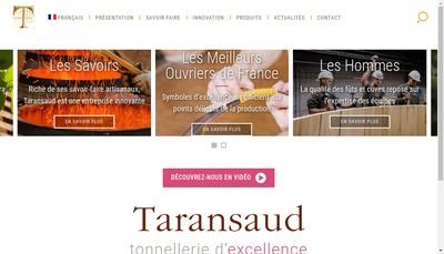 Site internet de Tonnellerie Taransaud