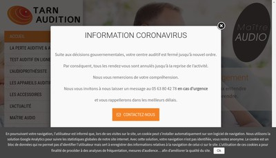 Site internet de Tarn Audition