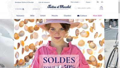 Site internet de Tartine et Chocolat