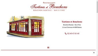 Site internet de Tartines et Bouchons