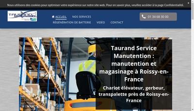 Site internet de Taurand Service Manutention