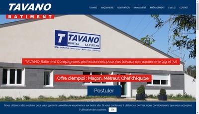 Site internet de Tavano Batiment