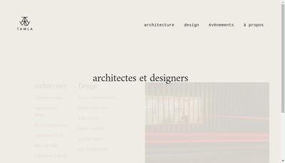 Site internet de Tawla Architecture