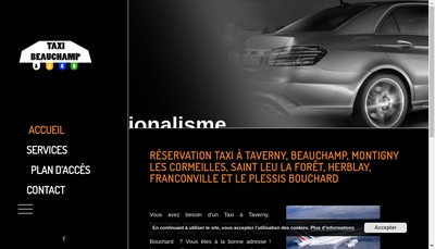 Site internet de ABT Appel Beauchamp Taxi