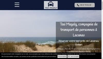 Site internet de Taxi Magaly