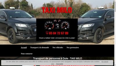 Site internet de Taxi Milo