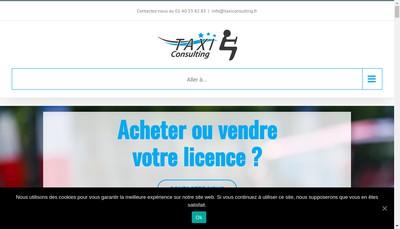 Site internet de SAS Taxi Consulting