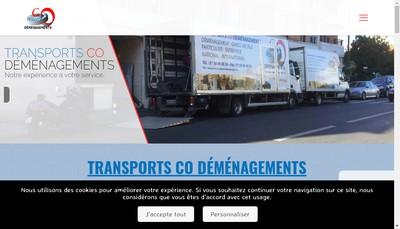 Site internet de Transports Co Demenagements