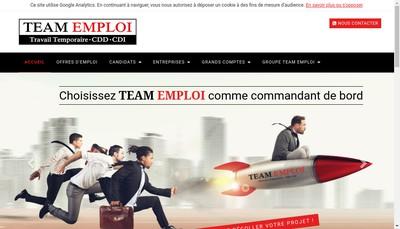 Site internet de Team Emploi