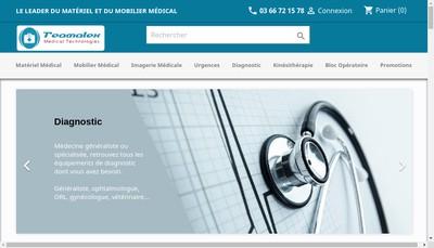 Site internet de Teamalex Medical Technologies