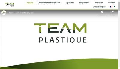 Site internet de Team Plastique