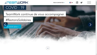 Site internet de Teamwork System Infrastructure