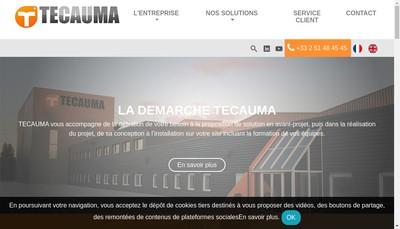 Site internet de SN Techniques et Automatismes de Manutention - Tecauma