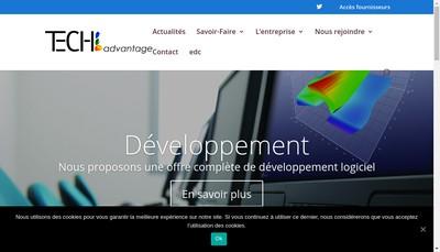 Site internet de Tech'Advantage