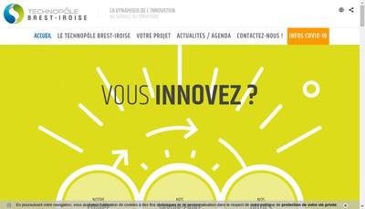 Site internet de Technopole Brest Iroise