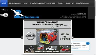 Site internet de Technamm