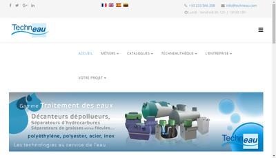 Site internet de SA Techneau