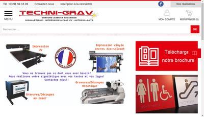 Site internet de Techni-Grav