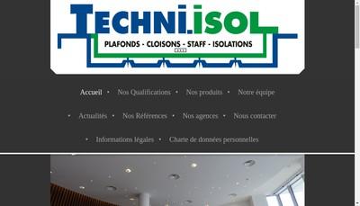 Site internet de SA Techni-Isol