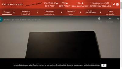 Site internet de Techni-Laser