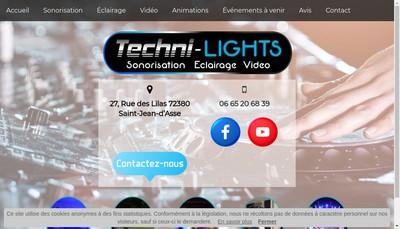 Site internet de Techni-Lights