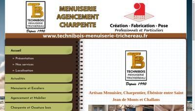 Site internet de Technibois Mesuiserie Trichereau