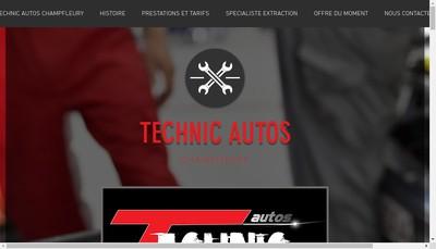 Site internet de Technic Autos Champfleury