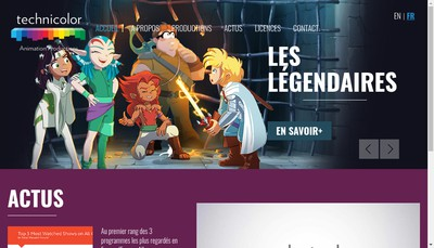 Site internet de Technicolor Animation Productions
