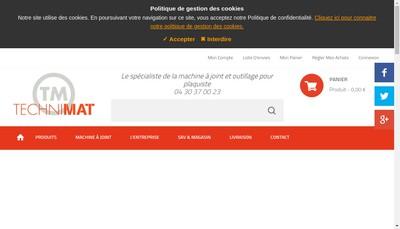 Site internet de Technimat
